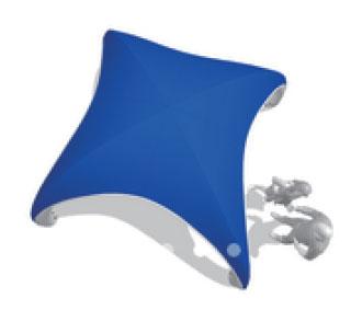 ベーステント 青 ブルー